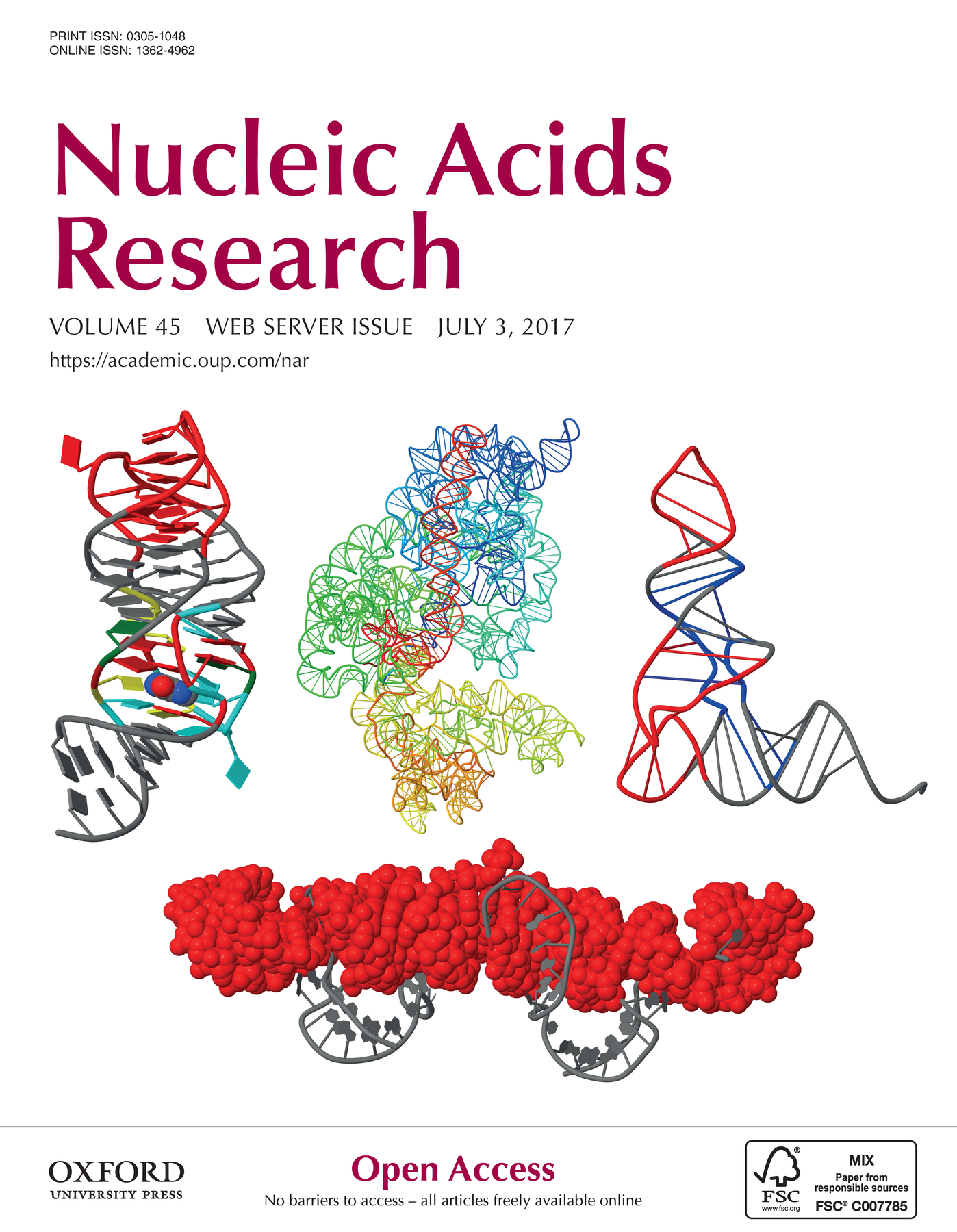 """Cover image featuring the DSSR-Jmol paper"" title=""Cover image featuring the DSSR-Jmol paper"""